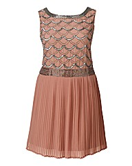 Frock And Frill Embroidered Dress