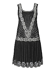 Frock And Frill Embroided Flapper Dress