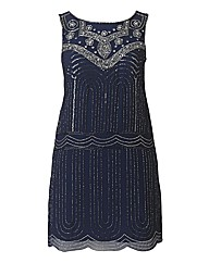 Frock And Frill Embroidered Navy Dress