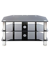 TV Stand Up To 37in Black/Chrome