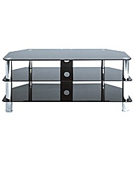 TV Stand Up To 50in Black/Chrome