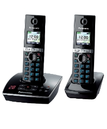 Twin Phone Answering with Machine Black