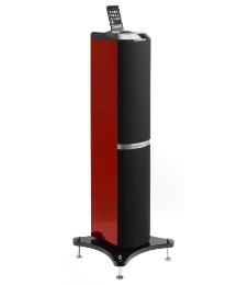 Lenco 60 Watt iPod Tower Red