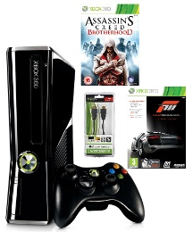 XBox 360 250GB Console + 2 Games + HDMI