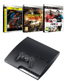 PS3 320GB Console + 3 Games