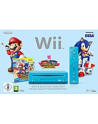 Limited Edition Blue Wii Console & Mario