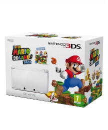 Nintendo 3DS Ice White + Super Mario 3D