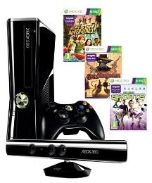 Xbox 360 250GB + Kinect + 2 Games