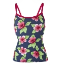 Beach To Beach Navy Print Tankini Top