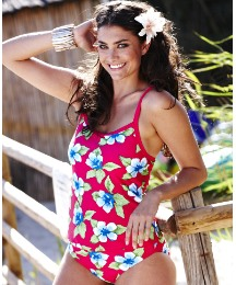 Beach To Beach Cherry Print Tankini Top