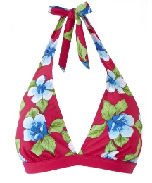 Beach to Beach Cherry Print Bikini Top