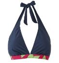 Beach To Beach Navy Bikini Top