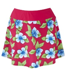 Beach To Beach Cherry Print Skort