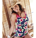 Beach To Beach Navy Print Swimsuit