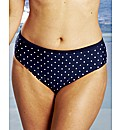 Beach To Beach Navy Spot Bikini Briefs