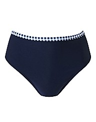 Beach To Beach Navy Gingham Bikini Brief