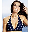 Beach To Beach Navy Spot Bikini Top