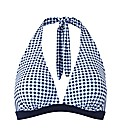 Beach To Beach Navy Gingham Bikini Top