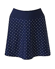 Beach To Beach Navy Spot Skort