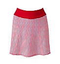 Beach To Beach Red Gingham Skort