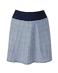 Beach To Beach Navy Gingham Skort