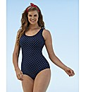 Beach To Beach Navy Spot Swimsuit
