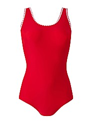 Beach To Beach Red Gingham Swimsuit