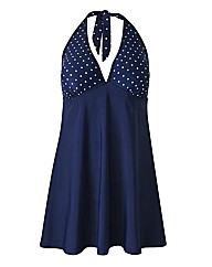 Beach To Beach Navy Spot Swimdress