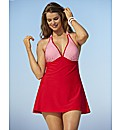 Beach To Beach Red Gingham Swimdress