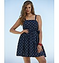 Beach To Beach Navy Spot Beach Dress