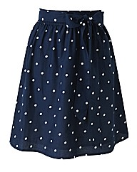 Beach To Beach Navy Spot Beach Skirt