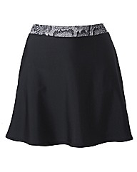 Beach To Beach Black Skort