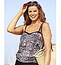 Beach To Beach Print Blouson Top