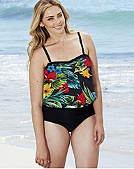 Beach To Beach Tropical TwoPiece Blouson
