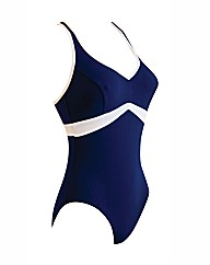 Zoggs Wyomi V-Neck X-Back Swimsuit