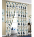 Kinsale Jacquard Lined Curtains & Ties