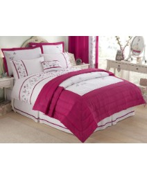 Romantic Floral Embroidered Duvet Cover