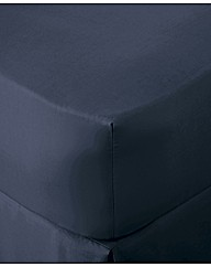 200TC Percale Plain Dye Fitted Sheet
