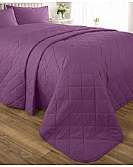 Easy Care Plain Dyed Quilted Throwover