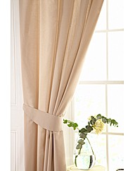 Easy Care Plain Lined Curtains &Tie Back