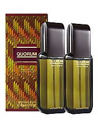 Quorum 50ml Aftershave Splash BOGOF