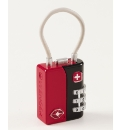 3-Dial Combination Cable Lock Red