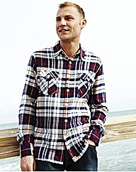 Weirdfish Brushed Check Shirt