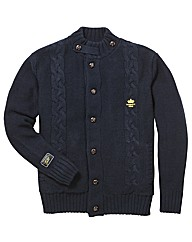 Hamnett Gold Lined Cardigan