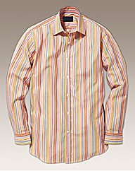 Rogers & Son Orange Stripe Shirt Regular
