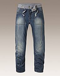 Jacamo Elasticated Waist Jean Regular