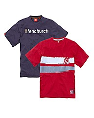 Fenchurch Pack of Two Tees
