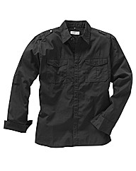 Jacamo Long Sleeve Military Shirt Long