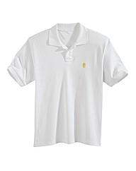 Jacamo White Embroidered Polo Long