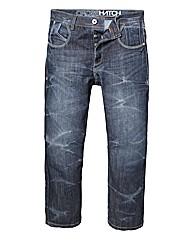 Crosshatch Denim Jeans 33 inches